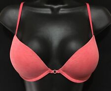 Hollister Gilly Hicks Logo Super Push Up Plunge Bra CORAL (36B)