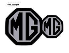 MG ZR LE500 MK2 Badges Front & Rear Insert Badge Logo Set 59mm 95mm Black Silver