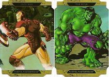 2008 MARVEL MASTERPIECES (Series 2) Die-Cut (C) Set: Iron Man C and Hulk C
