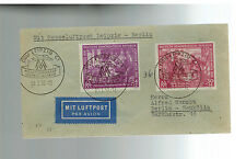 1950 Leipzig Fair DDR East Germany First day Cover Flight to Moscow # B15-B16