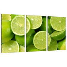 Tre foto Lime Verde Tela Stampa Muro Cucina Sala da Pranzo 3113