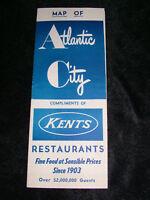 VINTAGE 1960S ATLANTIC CITY NJ RESTAURANTS BROCHURE