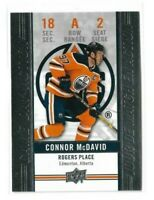 2018-19 UPPER DECK TIM HORTONS GAME DAY ACTION #GDA2 CONNOR MCDAVID UD OILERS
