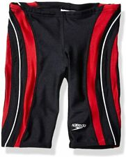 Speedo Mens Swimwear Black Size 28 Stripe Splice Competition Jammer $49 #620