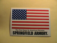 SPRINGFIELD ARMORY FIRST NAME IN AMERICA FIREARMS GUN HUNTING WINDOW DECAL NEW
