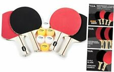 New listing Performance 4-Player Table Tennis Racket Set with 4-Player Black and Red