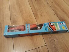 Thomas Trackmaster James train with original carriages (bat op'd) BOXED. RARE