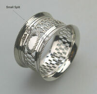 A quality antique solid silver pierced Napkin Ring Sheffield W & H C.1911