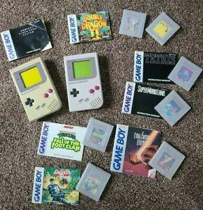16 Nintendo Game Boy Lot games system booklets cases flipull punisher mysterium