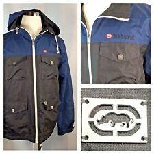 Ecko Unltd~Men's Coat~Jacket~Full Zip~Large~Windbreaker~Zip off hood~Blue~Black~