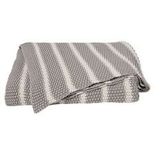 Cotton Knit Luxurious Throw, Blanket or Rug [Colour: Moss Natural],Canningvale