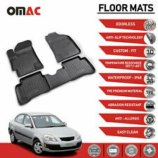 CFMB5FKI9378 Coverking Front and Rear Floor Mats for Select Kia Rio Models Clear Nibbed Vinyl