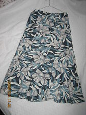 Monsoon White & Blue shade Stunning Floral Patterns Paneled Skirt UK8 (#173)