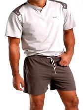 TALLA ESPECIAL HOMBRE PIJAMA NEGRO O. Marrón Pantalones cortos + CAMISETA 60/62