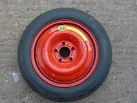 """Volvo C30 C70 S60 S80 V60 V70 Space Saver Spare Wheel 15"""" + Jack & Wheel Spanner"""