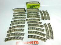 BU119-2# 40x Märklin H0/AC 5100 Gleisstück/Schiene gebogen M-Gleis; 1x OVP