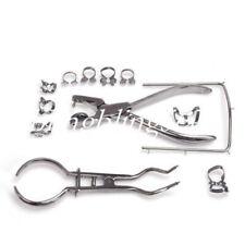 1 Set Dental Rubber Dam Starter Kit Tool With Steel Frame Punch Clamp Instrument