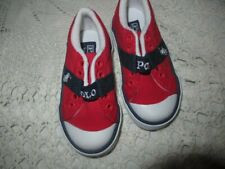 new Polo Ralph Lauren red canvas shoes little boy 5 M free ship Usa
