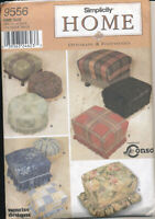 Craft SIMPLICITY Home Pattern OTTOMANS & FOOTSTOOLS 9556 Uncut *SHIPS FREE*