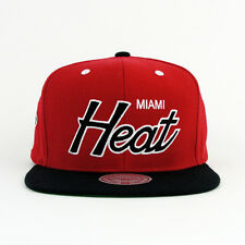 Mitchell & Ness NBA Miami Heat Script Snapback Hat Cap