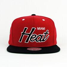 Mitchell & Ness NBA Miami Heat Script Snapback Hat Cap