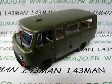 PL94 VOITURE 1/43 IXO IST déagostini POLOGNE :  UAZ 452 minibus militaire