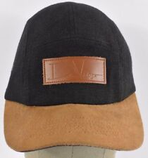 Black David Vintage RCK BNY 5 Panel Baseball hat cap adjustable Leather Strap
