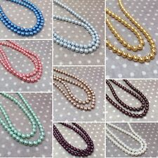 Strand of 120 beads Round Czech Glass Pearls 4 mm size