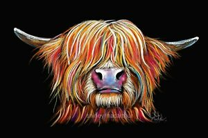 HIGHLAND COW PRINTS of Original Painting ' CHaRMeR ' by Shirley MacArthur