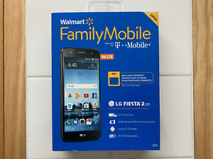 NEW Walmart Family Mobile LG Fiesta 2 LTE Cell Phone - No Contract / Prepaid