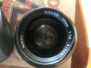 NIKON Nikkor 35mm F/1.4 Ai Wide Angle MF Lens