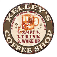 CWCS-0450 KELLEY'S COFFEE SHOP Tin Sign Birthday Mother's day Gift Ideas