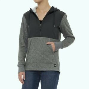 THE NORTH FACE Tech SHERPA PULLOVER 1/2 Zip FLEECE Hood JACKET Coat WOMENS LARGE