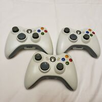 LOT OF 3 --Official Microsoft Xbox 360 Wireless Controller Genuine OEM UNTESTED