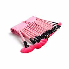 24Psc Makeup Brush Set Foundation Eyeshadow Eyeliner with Pink Leather Case