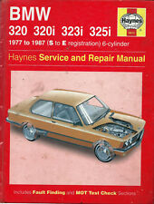BMW 320 320i 323i 325i 1977 TO 1987 HAYNES REPAIR WORKSHOP MANUAL