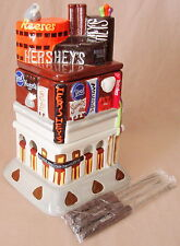 Hershey's Dessert Fondue Set Time Square NY Store Replica Ceramic Candy Dish NEW