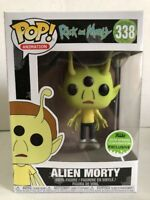 Funko POP Animation ALIEN MORTY 338 Vinyl Figure 2018 Spring Convention Excl NEW