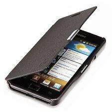 Samsung Galaxy S2 i9100 Slim Flip Case Cover Tasche Schutz Hülle Cover Schwarz