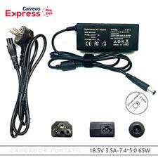 Cargador HP Compaq 440 2510p 2540p 2730p 2710p 18.5V 3.5A 7.4*5.0mm