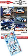 DÉCALS 1/24 réf 1044 PEUGEOT 307 WRC Stohl RALLYE MONTE CARLO  2006