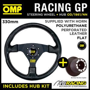 OMP RACING GP 330mm STEERING WHEEL & HUB for VW LUPO ALL / GTI 98-