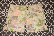 Mossimo Supply Co Juniors 11 Yellow Pink Floral Shorts, Pockets