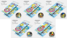 Set of 5 coins 25 rubles. The Simpsons. Homer, Lisa, Marge, Maggie, Bart Simpson