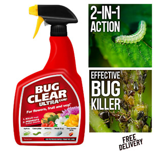 Miracle-Gro 18981 Bug clear Ultra, Clear Bugs, Pests and Major Insects 1Litre