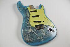 MJT Official Custom Vintage Age Nitro Guitar Body By Mark Jenny VTS Blue Paisley