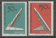 CYPRUS-TURKISH SG47/8 1976 LIBERATION MONUMENT MNH