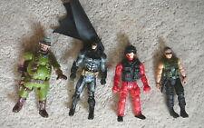 """FOUR VINTAGE ACTION FIGURES - 3.5 to 4"""" - DC BATMAN  -  AMBLIN - LOOSE - GOOD"""