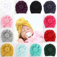 Cute Newborn Toddler Kids Baby Boy Girl Indian Turban Knot Cotton Beanie Hatwear