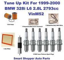 Tune Up for 1999 2000 BMW 328i Spark Plug, Air Filter, Oil Filter  Serpenti Belt